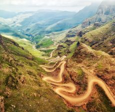 Sani Pass down into South Africa taken in 2015